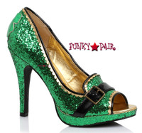 414-Patty, 4 inch glitter peep toe pump,COSTUME SHOES