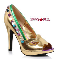 414-Masquerade, 4 inch peep toe Pump,COSTUME SHOES