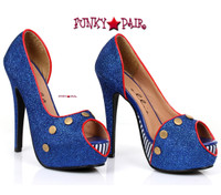 519-Harbor, 5 Inch High Heel Sailor Shoes,COSTUME SHOES