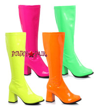 GOGO-N, Neon Color GOGO Boots,COSTUME BOOTS