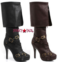 414-Keira, 4 inch Boots with buckles ,COSTUME BOOTS