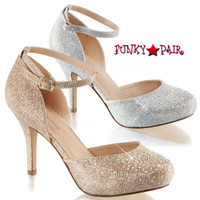 Covet-03, 3.5 inch Ankle Strap D'orsay Pump