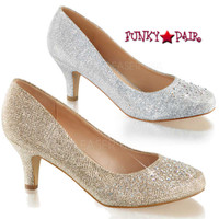 Doris-06, 2.5 inch Kitten Heel Pump