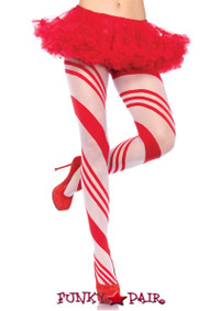 LA7944, Candy Striped Pantyhose