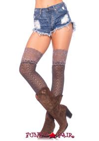 LA6915, Crochet Knit Slouch Socks