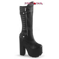 Cramps-200, 6.25  Inch Chunky Heel Knee High Boots