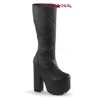Cramps-201, 6.25 Inch Chunky Heel Patchwork Boots