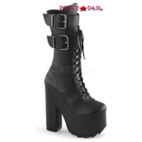 Cramps-202, 6.25 Inch Chunky Heel Knee High Boots
