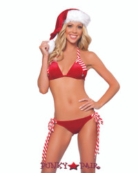 Stripes and Jingle Bell Bikini Set (JV-1017SC)