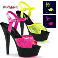 Kiss-209ML, 6 Inch High Heel Platform with UV lace