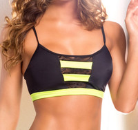 VV017, Top with Neon Yellow band and lace