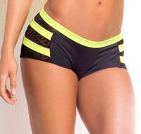 VV018, Scrunch back short with neon yellow stripes