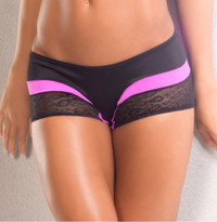 VV040, Lace with contrast trim scrunch back short