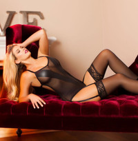 LI117, Sheer Teddy with Opaque V