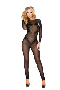 LI123, Mesh Bodysuit with Patches