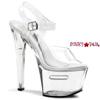 TIP JAR-708-2, 7 Inch High Heel with 2.75 inch Platform shoes with compartment base
