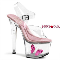 TIP JAR-708-7, 7 inch high heel with 2.75 inch platform Shoes with Butterfly