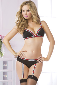 STM-10578, 2pc Athletic Elastic Triangle Bra and Panty Set