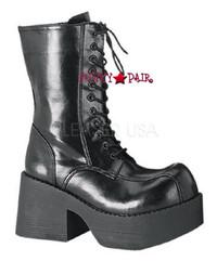 PLATOON-202, Demonia Platform Calf Women gothic boots Mady By Demonia
