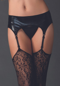 LA2902, Wet Look Garter Belt