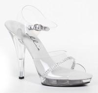 """521-Jewel-W, 5 Inch Rhinestone  Sandal with """"W"""" Width"""