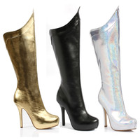 517-Mistress, 5.5 Inch Stiletto Heel Super Hero Woman Boots