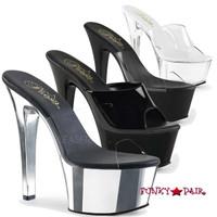 Aspire-601, 6 Inch High Heel Vegan Slide