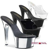 Aspire-601, 6 Inch High Heel Vegan Slide
