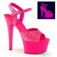 Aspire-609G, 6 Inch High Heel Glitter Platform