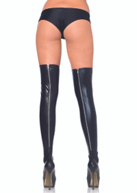 LA6920, Wet Look Thigh High With Zipper