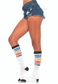 LA5609, Shot Time Acrylic Knee Socks