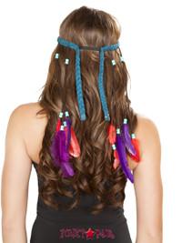 H4725, Braided Turquoise Headband
