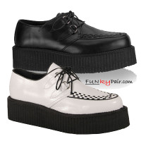 V-CREEPER-502, men gothic shoes Made by Demonia