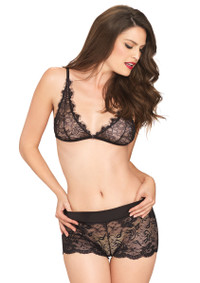 LA81521, Lace Bralette and Boyshort