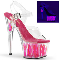 Adore-708FLM, 7 Inch Ankle Strap with Flame