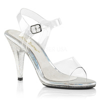 Caress-408MG, 4 Inch Ankle Strap with Glitter Accent