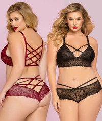 STM-10784X, Rose Galloon Lace Bustier - Bottom not Included