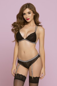 STM-10786, Geo Galloon Lace Bralette - Bottom not included