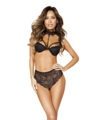 LI182, Lace Padded Bra Top with High Waist Bottom