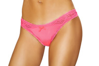 LI208, Thong with Lace Trim