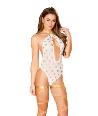 R-3440, Sheer Romper with Sequin Stars