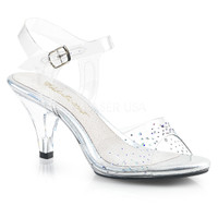 Belle-308SD, 3 Inch Ankle Strap with Rhinestones