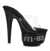 709-Vanity-Led, 7 Inch Stiletto Heel with LED Platfrom