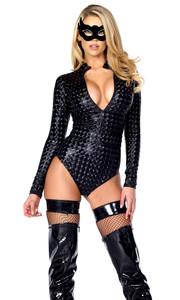 FP-555214, Hologram Zip front Bodysuit