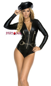 FP-554607, Trashbag Bodysuit with Zipper Detail