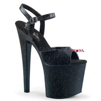 Taboo-709MMG, 7.5 Inch High Heel Ankle Strap Sandal with Glitters