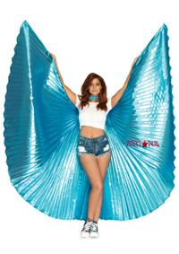 A2790, Pleated Halter Wings