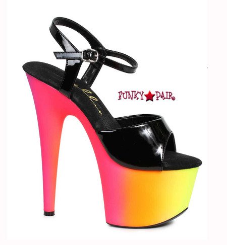 709-Spazz, 7 Inch Ankle Strap Sandal with UV bottom