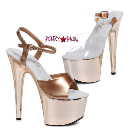 709-Bria, 7 Inch High Heel Ankle Strap Sandal