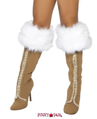 R-4240B, White Fur Boot Cuffs